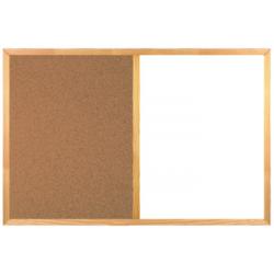Magneticko-korková tabuľa v drevenom ráme WOOD (60x40 cm)