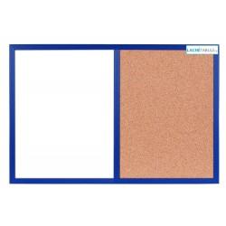 Magneticko-korková tabuľa v drevenom ráme - námornícka WOOD (60x40 cm)