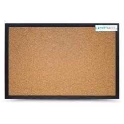 Korková tabuľa v dekoratívnom ráme - čierny (60x40 cm)