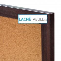 Korková tabuľa v dekoratívnom ráme - mahagónový (60x40 cm)