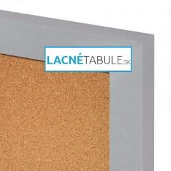 Korková tabuľa v dekoratívnom ráme - strieborný MDF (30x40 cm)