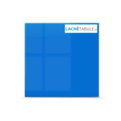 Sklenená magneticko suchostierateľná tabuľa - modrá GLASS (45x45 cm)
