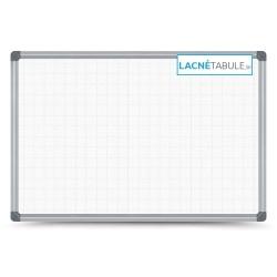 Magnetická tabuľa v hliníkovom ráme s potlačou - mriežky 2,5x2,5 cm (60x40 cm)