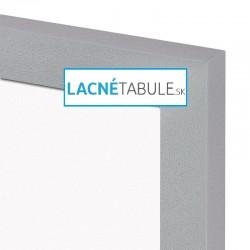 Magnetická tabuľa v dekoratívnom ráme - strieborný MDF (30x40 cm)