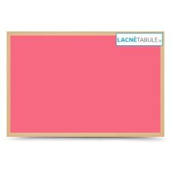 Magnetická tabuľa farebná v drevenom ráme - ružová WOOD (30x40 cm)