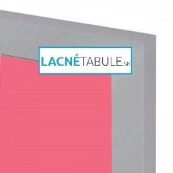 Magnetická tabuľa farebná v striebornom ráme - modrá MDF (30x40 cm)