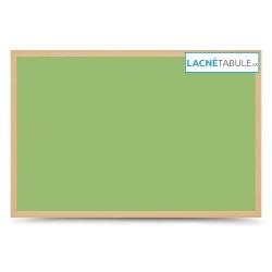 Magnetická tabuľa farebná v drevenom ráme - zelená WOOD (30x40 cm)